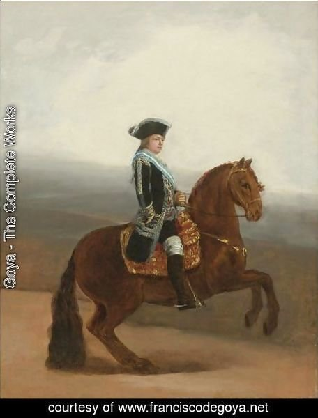 Goya - Equestrian Portrait Of Don Manuel Godoy, Duke Of Alcudia