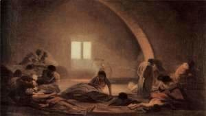 Goya - Desastres de la Guerra, the plague hospital scene
