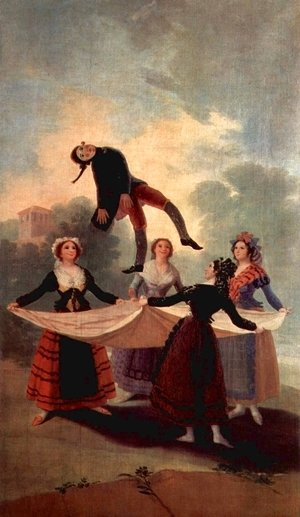 Goya - Designs for tapestries to decorate the royal palace of El Pardo and El Escorial, Scene The Marionette