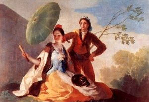 Goya - Designs for tapestries to decorate the Royal. Palace of El Pardo and El Escorial, Scene The parasols