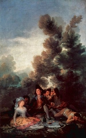 Goya - Designs for tapestries to decorate the royal palace of El Pardo and El Escorial, Vesper outdoor scene