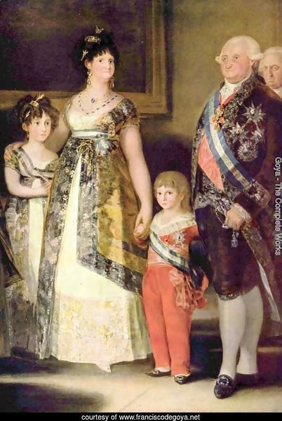 Portrait of the Family of Charles IV, detail