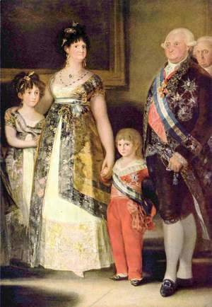 Goya - Portrait of the Family of Charles IV, detail