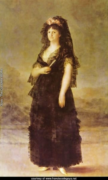 Portrait of the Queen of Spain Maria Luisa of Bourbon-Parma