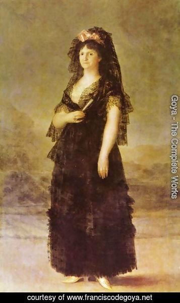 Goya - Portrait of the Queen of Spain Maria Luisa of Bourbon-Parma