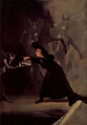 Goya - Magic pictures of the Palacio de la Alameda, the Duke of Osuna, Scene The lamp of the Devil