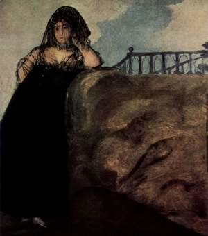 Goya - Woman in black