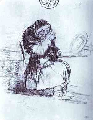 Goya - The Old Woman with a Mirror