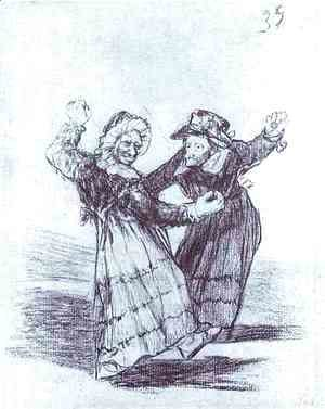 Goya - Two Dancing Old Friends
