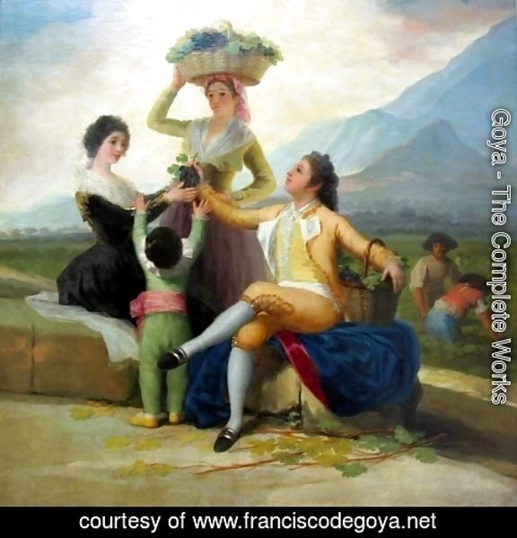 Goya - Autumn, or The Grape Harvest