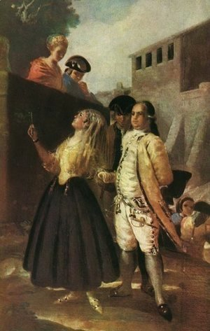 Goya - The military and senora