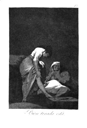 Goya - She is well pulled down
