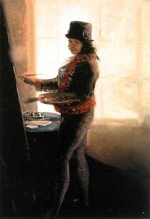 Goya - Self-portrait in the Studio