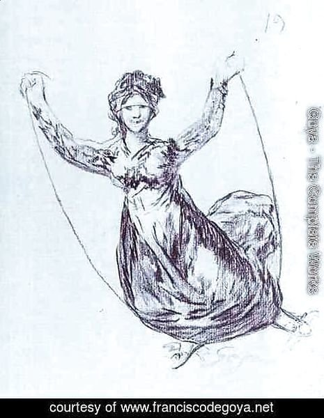 Goya - Young Witch Flying with a Rope