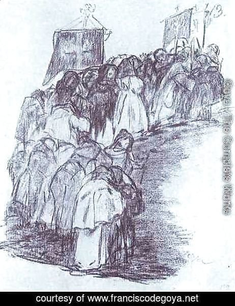 Goya - Procession of Monks