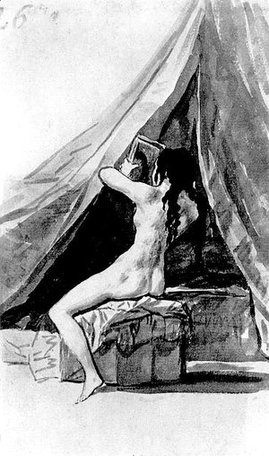 Goya - Naked girl looking in the mirror