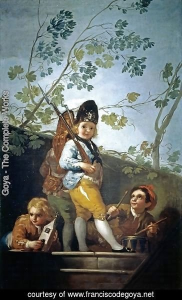 Goya - Boys playing soldiers