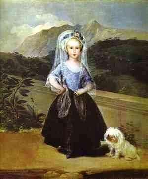 Goya - Portait Of Maria Teresa De Borbon Y Vallabriga