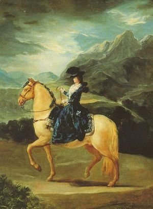 Goya - Maria Teresa Of Vallabriga On Horseback