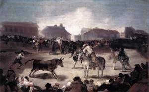 Goya - Village Bullfight