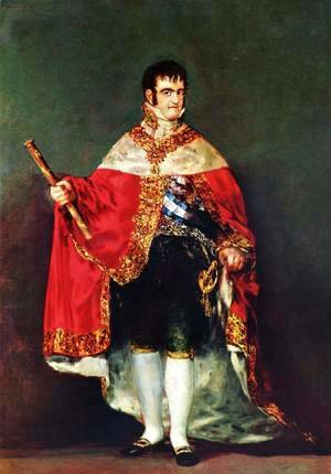 Goya - Ferdinand VII In His Robes Of State