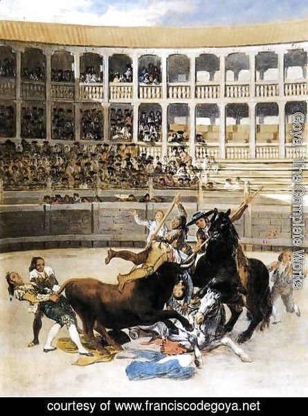 Goya - Picador Caught By The Bull