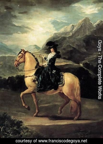 Goya - Portrait Of Maria Teresa De Vallabriga On Horseback
