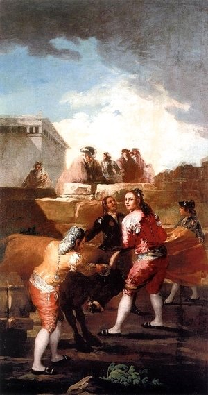 Goya - Fight With A Young Bull