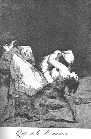 Goya - Caprichos  Plate 8  They Carried Her Off