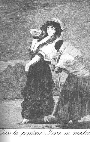 Goya - Caprichos  Plate 16  For Heavens Sake And It Was Her Mother