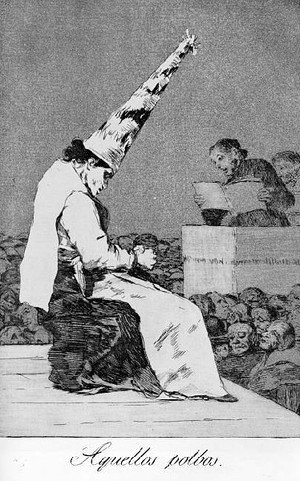 Goya - Caprichos  Plate 23  Those Specks Of Dust