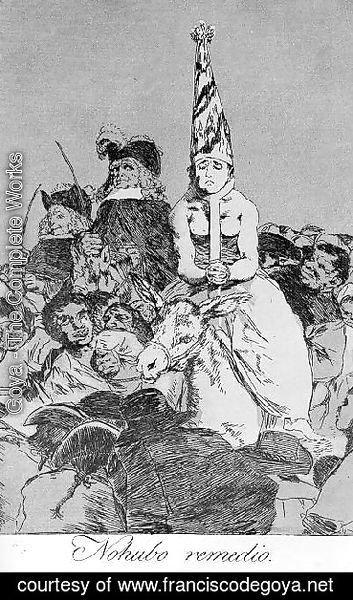 Goya - Caprichos  Plate 24  Nothing Could Be Done About It