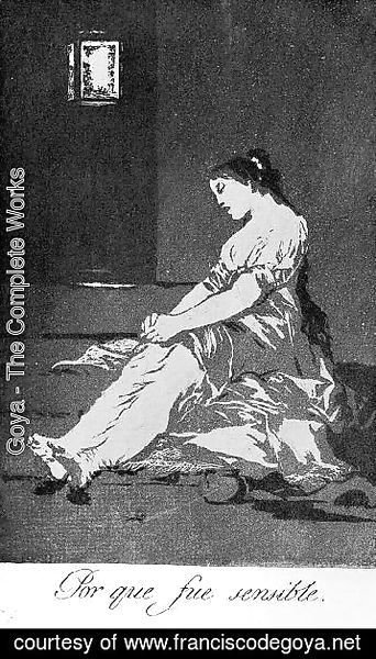 Goya - Caprichos  Plate 32  Because She Was Susceptible