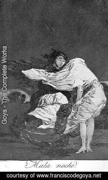 Goya - Caprichos  Plate 36  A Bad Night