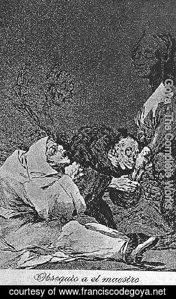 Goya - Caprichos  Plate 47  Homage To The Master