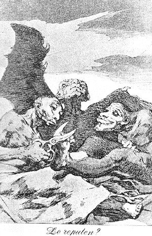 Goya - Caprichos  Plate 51  They Pare
