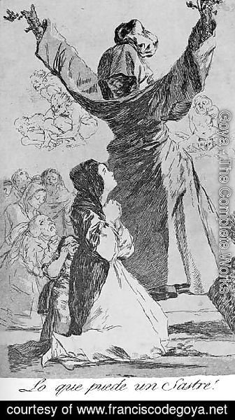 Goya - Caprichos  Plate 52  What A Tailor Can Do