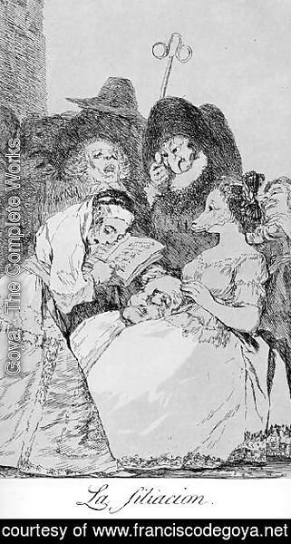 Goya - Caprichos  Plate 57  The Filiation