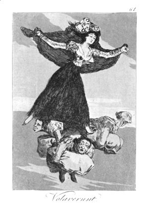 Goya - Caprichos  Plate 61  They Are Flying