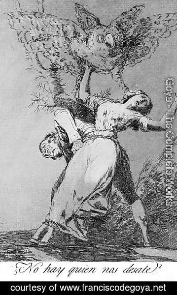 Goya - Caprichos  Plate 75  Can't Anyone Untie Us