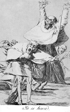 Goya - Caprichos  Plate 80  It Is Time